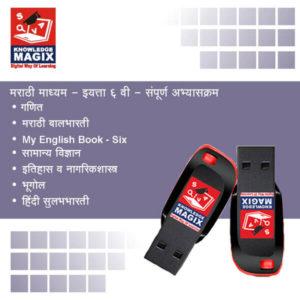 Sixth Standard Marathi Medium Pendrive