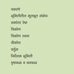 Ninth standard marathi medium Geometry details